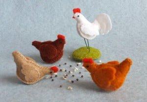 Drie kippen en een haan