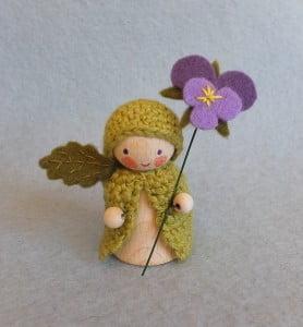 gehaakt bloemenkind viooltje