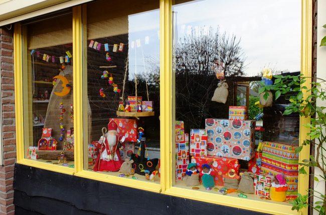 Sinterklaas Etalage Atelier Pippilotta