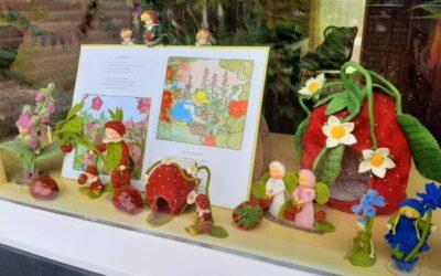 Aardbeien en bloemenkinderen