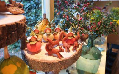 Pompoenkinderen en eekhoorntjes