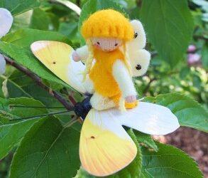 Vlinder in het geel