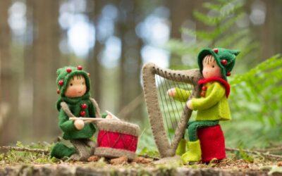 Trommelaar en Harpist