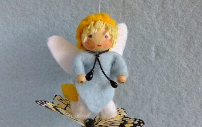 Vlinder met elfje
